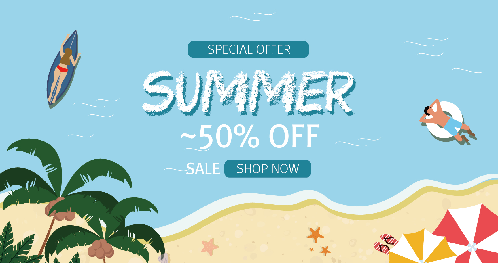 Special offer 'summer' ~50% off sale